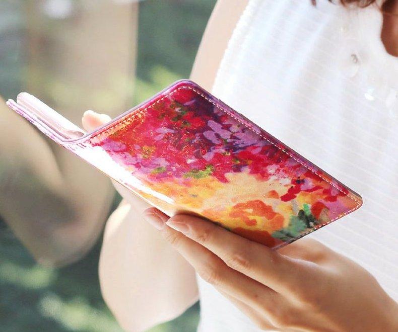 iphoneケース 花柄の手帳型