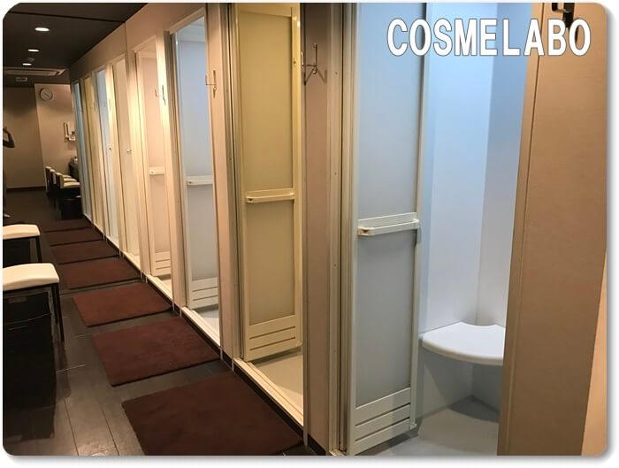 ライザップの個室シャワールーム