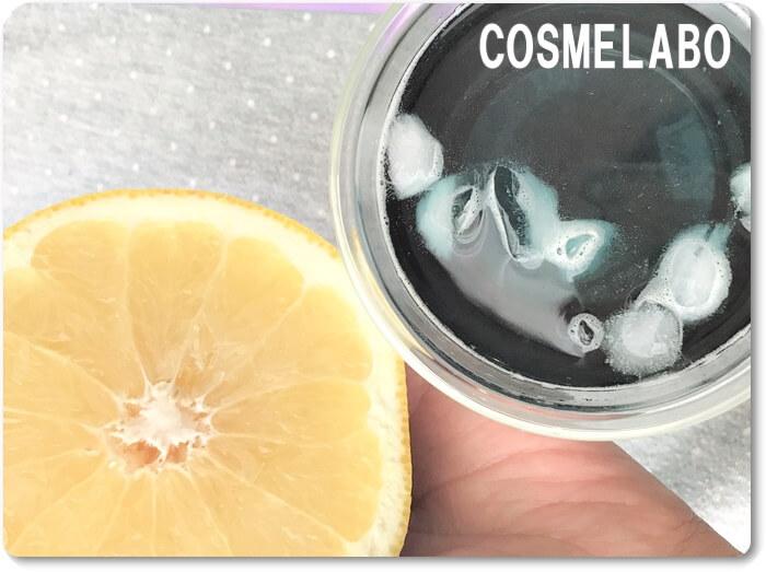 アントシアニン レモン 実験