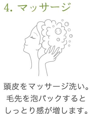 uruotte シャンプー 使い方4