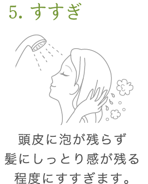 uruotte シャンプー 使い方5
